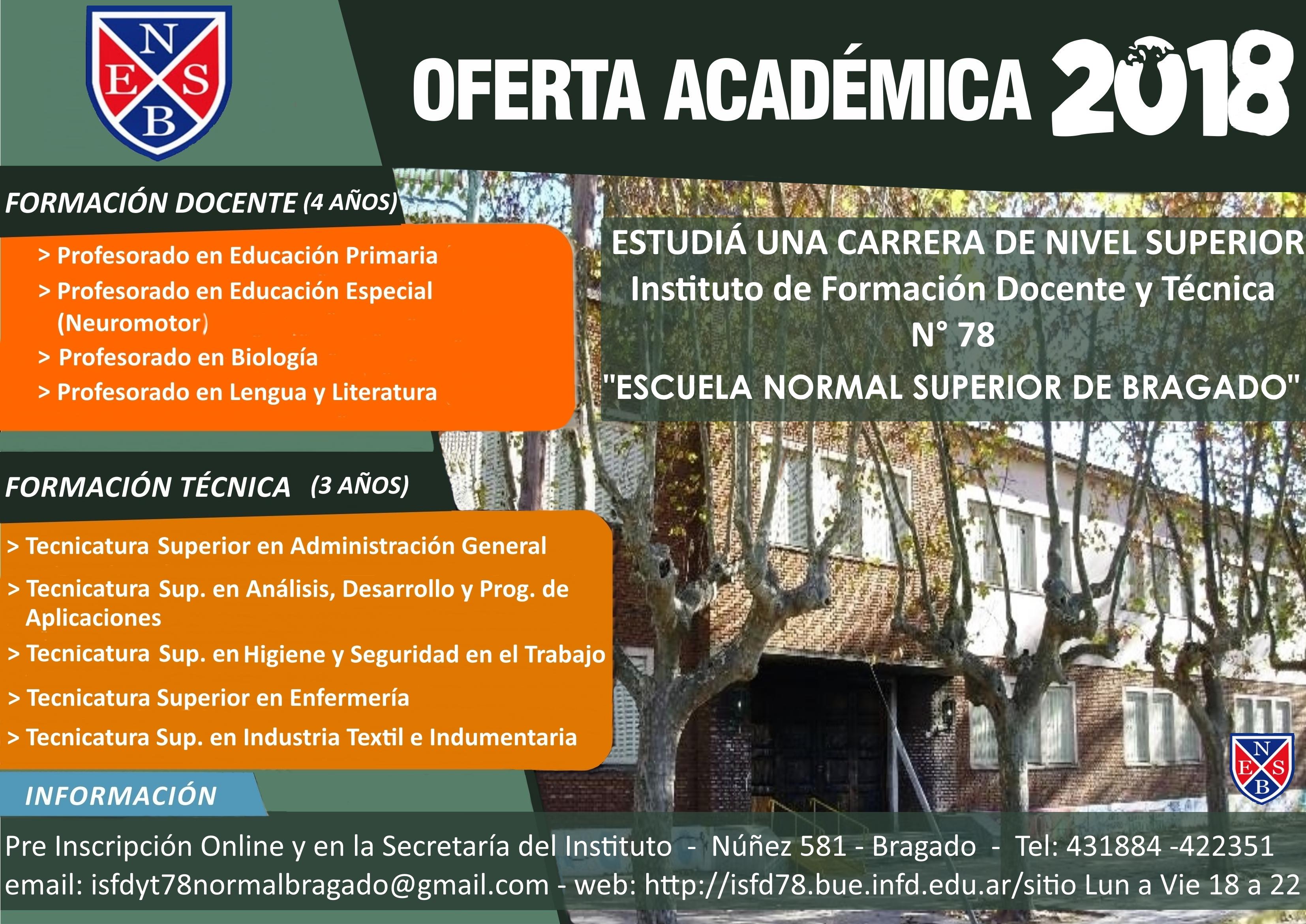 Instituto superior de formaci n docente y t cnica n 78 for Instituto formacion docente